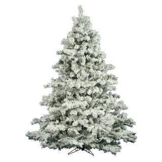 Vickerman Flocked Alaskan Unlit Pine Christmas Tree   Christmas Trees