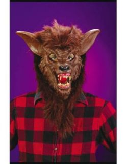 Scary masks Werewolf Deluxe Mask Halloween Costume   Most Adults Clothing