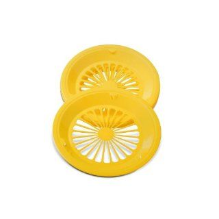 "Random Color Brights Plastic Paper Plate Holders, 10 3/8"", Set of 4 Kitchen & Dining"