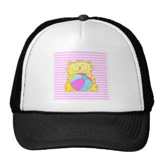 Cute Kitten Play Beach Ball Trucker Hat