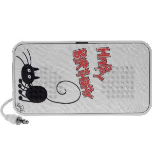 Happy Birthday   cartoon black cat Mini Speaker