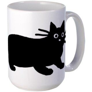 Black Cat Large Mug Large Mug by  Kitchen & Dining