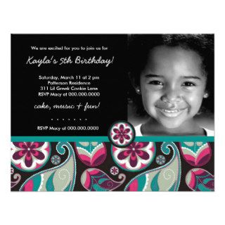 LGC  Sweet Paisley Black Custom Invites