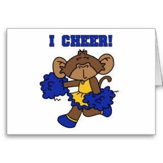 I Cheer Blue and Gold Tshirts and Gifts Greeting Cards
