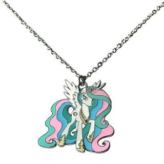 My Little Pony Friendship Is Magic Princess Celestia Metal Necklace Chain Necklaces Jewelry