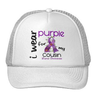 Lupus I WEAR PURPLE FOR MY COUSIN 43 Trucker Hats