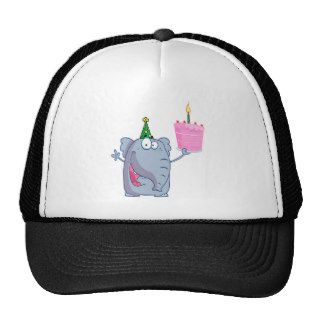 funny happy birthday elephant cartoon hat