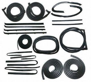 78 80 GMC FULL SIZE PICKUP fullsize WEATHERSTRIP KIT TRUCK, (Includes Door Seal, Molded Upper Channel, Division Post Glass Run, Vent Kit, Rear Window Windshield Beltline Black Lockstrip For Windshiel Automotive