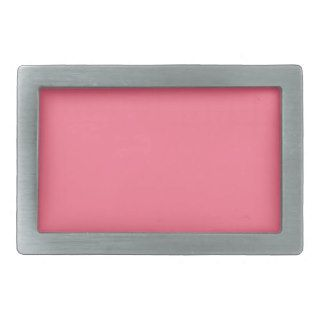 Coral Pink   Light Coral Background. Elegant Color Rectangular Belt Buckle