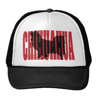 Chihuahua silhouette, long coat trucker hats
