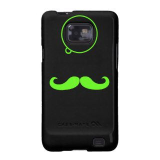 Green Mustache (Droid) Galaxy S2 Cover