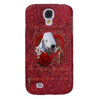 Valentines   Key to My Heart   Bedlington Terrier Galaxy S4 Case