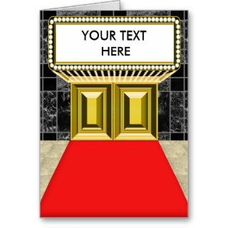 Broadway Lights Marquee Customizable Blank Inside Greeting Cards