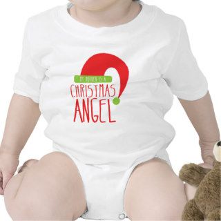 My Mother is a Christmas ANGEL funny Xmas design Tee Shirts