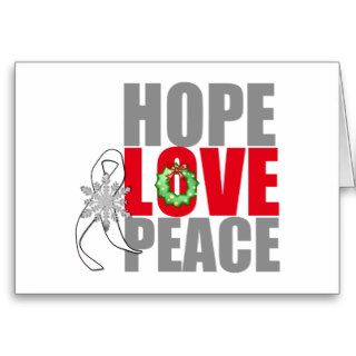 Christmas Holiday Hope Love Peace Lung Cancer Cards
