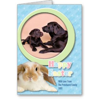 Easter   Chocolate Labradors Greeting Card