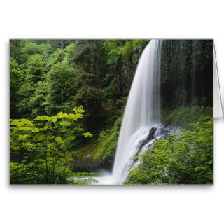 Middle North falls, Silver Falls State Park, Greeting Card