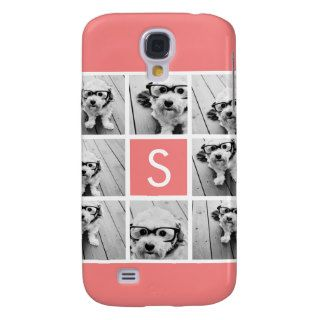 Create Your Own Instagram Collage Custom Monogram Galaxy S4 Cover