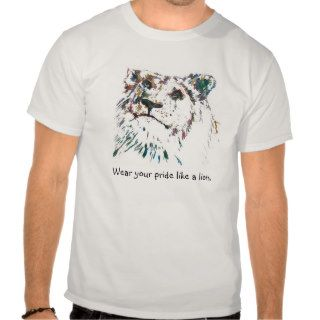Awesome Rainbow Pride Proud Lion Shirt Hand Paint