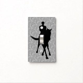 Dressage Horse And Rider Silhouette Light Switch Plates