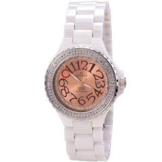 Scorva Womens Ceramic White Watch Swiss Movement Date Display One Hundred Ninety Seven Genuine (197) Diamonds, Exclusive To . Perfect Gift For Christmas Life Time Warranty Diamond Setting, Blanca Charmane STP1033 at  Women's Watch store.