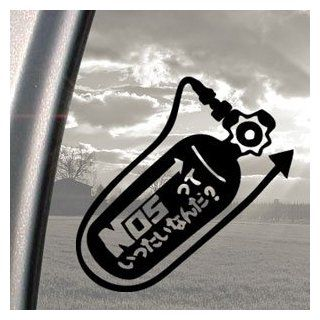 NOS Tank Nitro Racing Tokyo Drift Black Decal Car Sticker