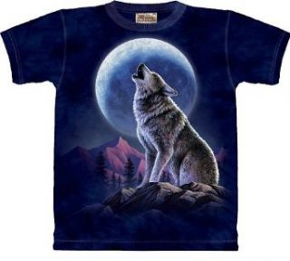 The Mountain Howling Lone Wolf Moon Tee T shirt Child L