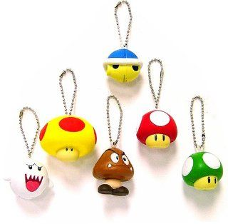 Super Mario Brothers BanPresto Foam Keychain Set of 6 Toys & Games