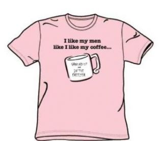 Like Men Like Coffee   Adult Pink S/S T Shirt For Men Clothing