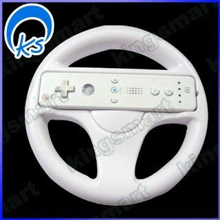 Steering Wheel for Wii Mario Kart Racing Game White Video Games