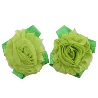 Shabby Chic Barefoot Petals   Baby Soft Wrap Flower Sandals (Green) Infant And Toddler Apparel Clothing