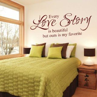 Every Love Story Is Beautiful But Ours Is My Favorite   Vinyl Wall Lettering Decal Quotes Romantic (Black, Small)   Wall Docor Stickers