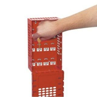 Master Lock Group Lock Box for Lockout/Tagout, Steel, Red Industrial Lockout Tagout Kits