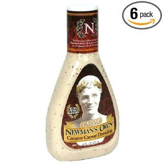 Newman's Own Creamy Caesar Dressing, 16 Ounce Bottles (Pack of 6)  Cesar Salad  Grocery & Gourmet Food