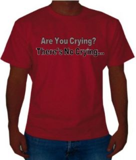 "A League of Their Own ""No Crying in Baseball"" Mens Movie Line T Shirt, Large, Red Clothing"