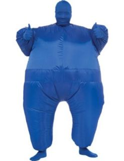 Inflatable Skin Suit Adult Costume Blue Adult Mens Costume Clothing