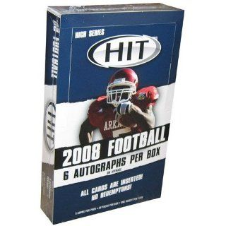 2008 Sage Hit Football High Series Hobby Box   30 Packs Per Box 5 Cards Per Pack Sports Collectibles