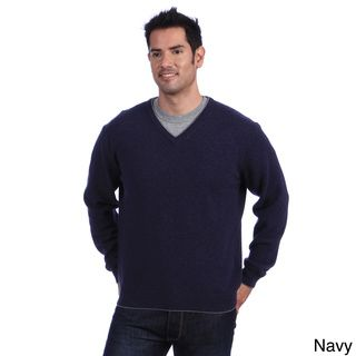 Luigi Baldo Italian Made Men's Cashmere V Neck Sweater Luigi Baldo V neck Sweaters