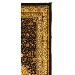 Lyndhurst Collection Mashad Black/ Ivory Rug (2'3 x 18') Safavieh Runner Rugs