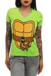 Teenage Mutant Ninja Turtles Costume V Neck Girls T Shirt Plus Size Size  XX Large Clothing