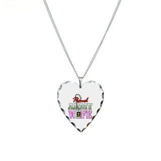 Necklace Heart Charm Proud Army Wife Pendant Necklaces Jewelry