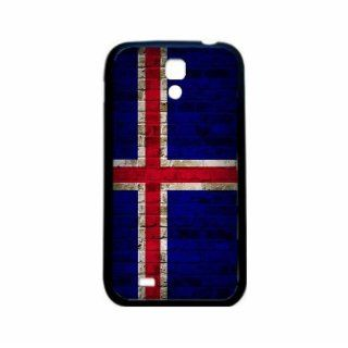 Iceland Brick Wall Flag Samsung Galaxy S4 Black Silcone Case   Provides Great Protection Cell Phones & Accessories