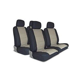 "Complete Seat Cover Set ""Elegant"" Black/Beige Automotive"