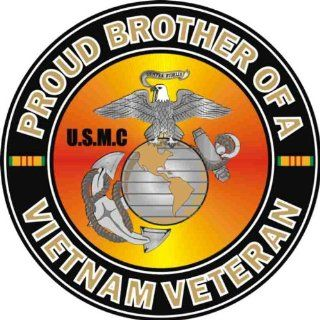 US Marine Corps Proud Brother of a Vietnam Veteran Decal Sticker Automotive