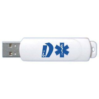 iD   custom USB flash drive for storage of emergency medical information. Product features an auto loading form for detailed entries of medical conditions, allergies, medications, and more (see photos). iD provides emergency information for EMT's   eve