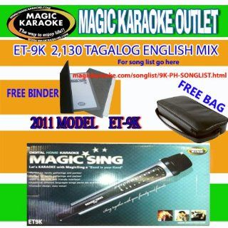 Entertech Magic Sing Karaoke Mic Pinoy Version Et9k Comes with a 1 Year U.s. Manufacturer Warranty. The Et9k Is a Multiplex Microphone with Improved Sound Quality. It Comes with 2,130 Mix Tagalog/English All time Favorites and Recent OPM and Pop Hits That