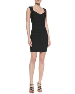 Womens Crisscross Open Back Bandage Dress, Black   Herve Leger   Black (X
