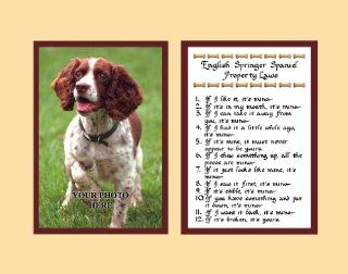 English Springer Spaniel Property Laws Wall Decor Pet Dog Saying Gift   Decorative Plaques