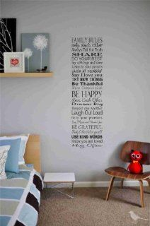 Family rules help each other always tell the truth Vinyl wall art Inspirational quotes and saying home decor decal sticker