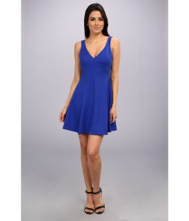 Amanda Uprichard Fit And Flare Plunge Womens Dress (Navy)